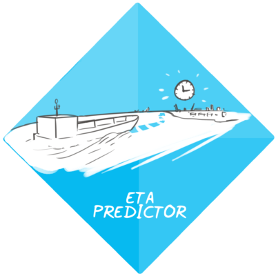 ETA predictor for arrival of seagoing vessels in the port