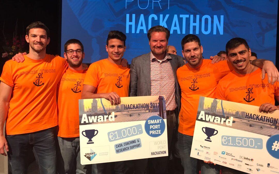 Team Dock Tech Israël wins SmartPort & World Port Hackathon prize 2017!