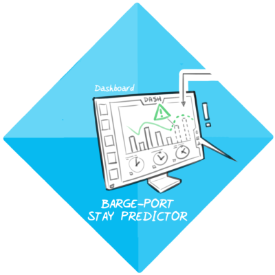 Barge-port stay predictor